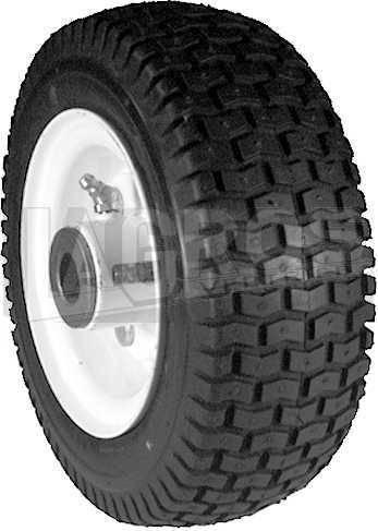 Universal-Rad kpl. mit Stahl-Felge 8 x 300 x 4.4 für Toro Aufsitzmäher/ Rasentraktoren