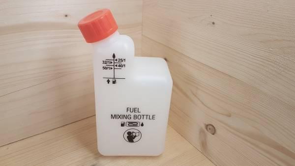 Mix Flasche für Benzingemisch für Motorsägen, Freischneider, Motorsensen, u.s.w