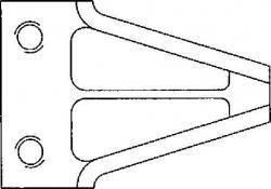 2-Loch Klinge gewölbt 2.5 mm stark Hobby-Universal-Kommunal für z.B. Tielbürger Balkenmäher