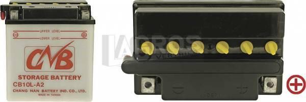 12 V Batterie DIN 51112, 11 Ah / 160 A, +Pol = rechts, Entlüftung links, hohe Startleistung auch für Suzuki