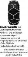 Schneekette Spurkreuz Super, 4.35 mm stark für Reifengröße 18 x 8.50-8, 18 x 9.50-8, 19 x 7.00-8, 20 x 8.00-8