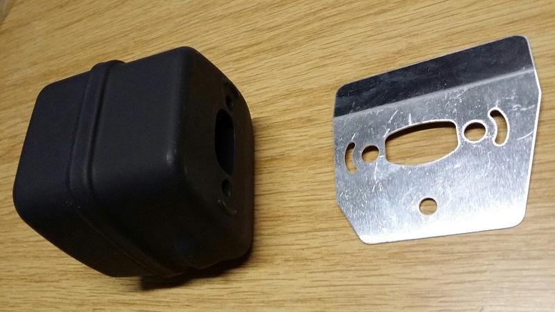 Auspuff  passend Motorsäge Husqvarna 36 und 136 Schalldämpfer