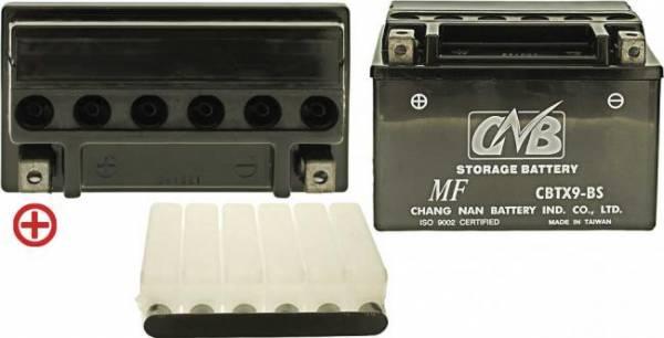 12 V Batterie DIN 50812, 8 Ah / 120 A, +Pol = links, hohe Startleistung für Suzuki Roller/ Motorrad DR 25