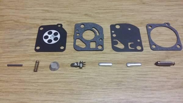 Reparatursatz ersetzt Zama RB-48 für Zama Vergaser C1UF, C1UK, C1UM für Echo Wasserpumpe/ Trimmer/ Freischneider/ Motorsense WP-1000, SRM-2600; auch für MC Culloch, Stihl