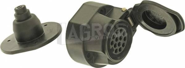 Fahrzeug-Steckdose 13-polig, Kunststoff mit Schraubanschluß