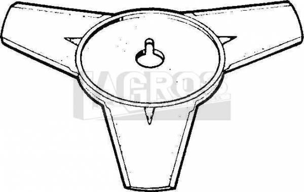 Nylon-Mähscheibe 3-Zahn Profi, mit Nut für fast alle gängigen Motorsensen/ Freischneider