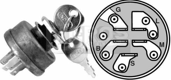 Zündschloss mit Schlüssel, 5-polig z.B. für AYP, Husqvarna, Partner, Jonsered