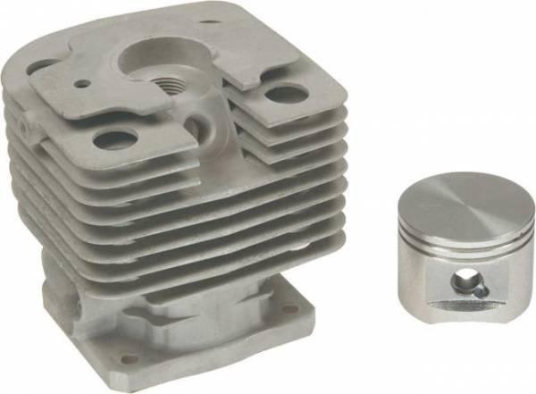 Zylinder kpl. mit Deko Öffnung, Bolzen 10 mm für Stihl Freischneider/ Sprühgeräten