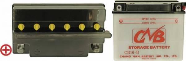 12 V Batterie DIN 51912, 19 Ah / 240 A, +Pol = links, Entlüftung rechts, hohe Startleistung, Spezial-Batterie für z.B. Gravely u.v.a., auch für Schneeräumgeräte