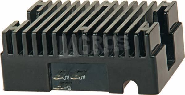 Spannungsregler für Tecumseh 8 bis 24 PS Motore H70, HH80, HH100, HH120, HM80, OH160, V70, VH100, VM80 mit 15 A Lichtmaschine