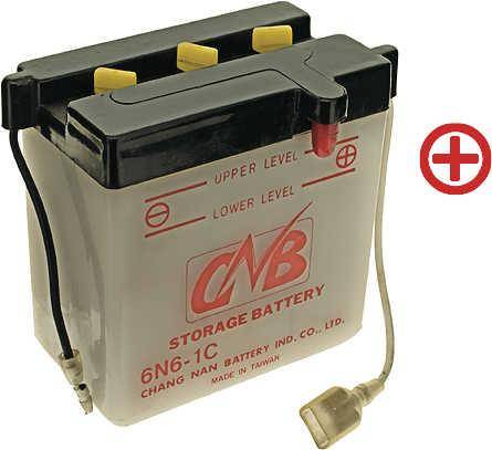 6 V Batterie DIN 00613, 6 Ah, +Pol = rechts
