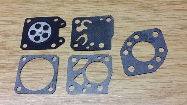 Membransatz ersetzt Tillotson DG-1HU, DG-2HU, DG-3HU mit Teflon für Vergaser Typ HU für Husqvarna Blasgerät/ Freischneider/ Motorsäge 140R, 244R, 36R, B440, B440, 36R