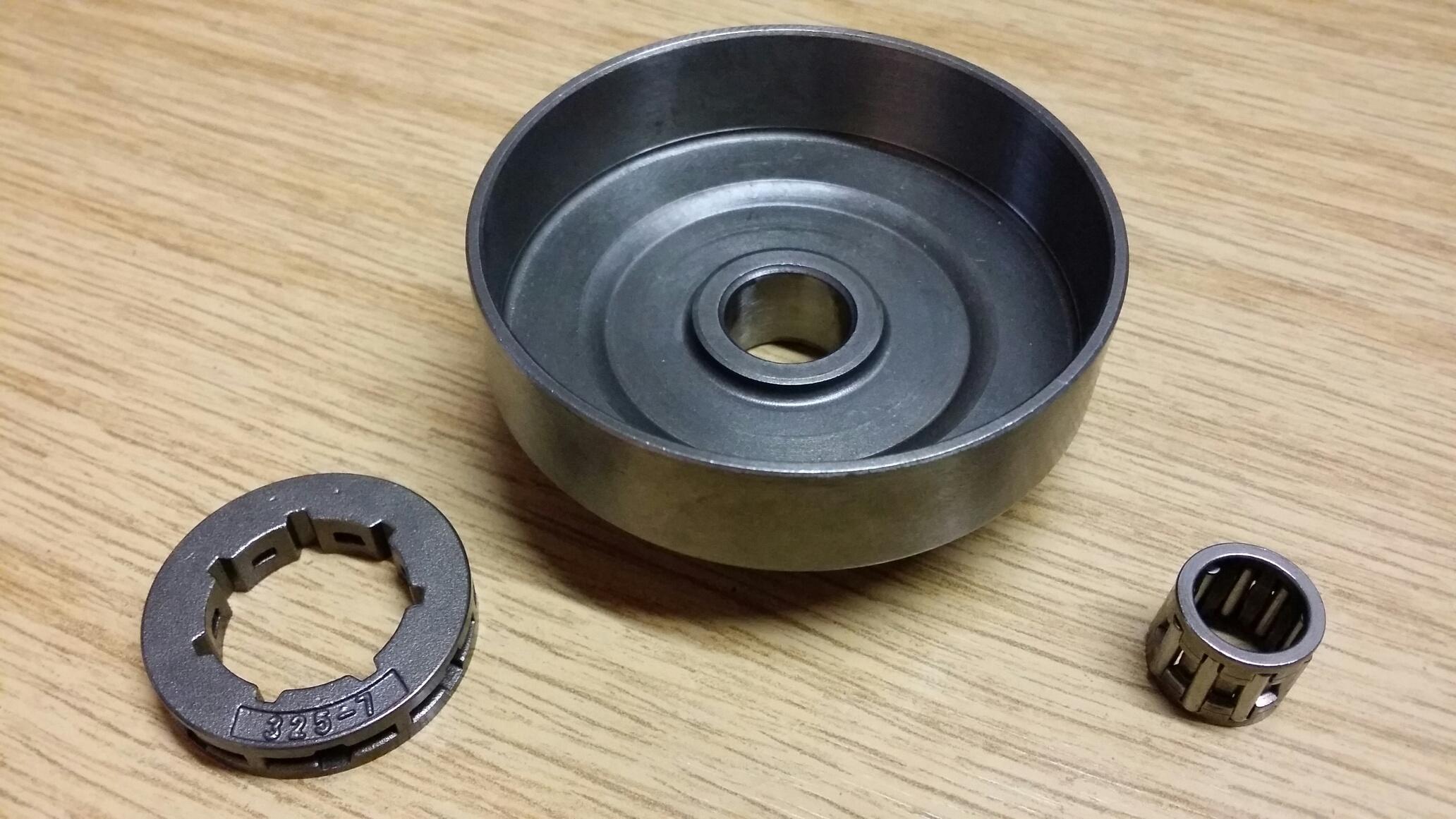 Ringkettenrad Kettenrad mit Ringrad Ring /& Lager 325 f/ür Husqvarna 235 236 240