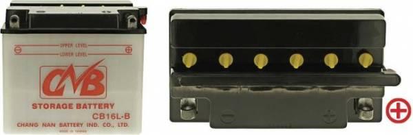 12 V Batterie DIN 51911, 19 Ah / 240 A, +Pol = rechts, Entlüftung rechts, hohe Startleistung, Spezial-Batterie für z.B. Gravely u.v.a., auch für Schneeräumgeräte