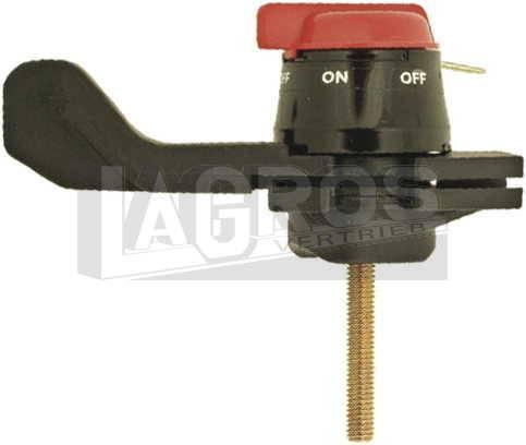 Gasbedienhebel RS mit eingebautem Abstellknopf