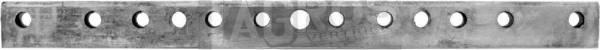 Verstärkungsleiste 254 x 20 10 Löcher Ø 6 / 1 Loch Ø 8 2 Gewindelöcher M8 für z.B. Gutbrod, Tielbürger Balkenmäher