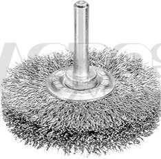 Welldraht-Rundbürste mit Schaft, passend für Bohrmaschinen