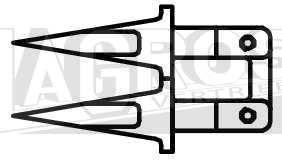 Doppelfinger für Fingerbalken für Balkenmäher z.B. Agria