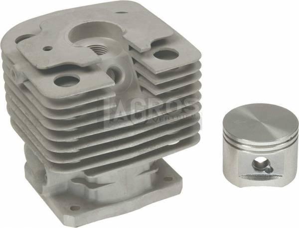 Zylinder kpl. mit Deko Öffnung, Bolzen 10 mm für Stihl Freischneider/ Sprühgeräte
