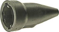 Schutzkontakt-Kupplung 230V/16A aus Vollgummi mit Kabelschutz