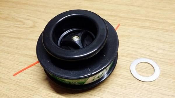 Profi 2-Fadenkopf Manual, mit Adapter 10 x 100 Li, mit integrierten Rastnocken für Robin Freischneider/ Motorsense NB 03, NB 04