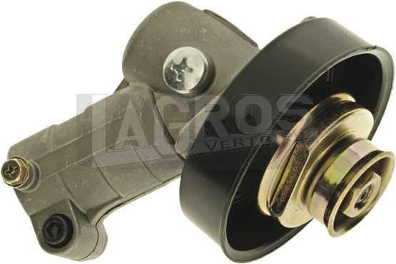 Universal-Winkelgetriebe, Getriebekopf für gängigste Drehrichtung links für Freischneider/ Motorsensen (Ø = 28/ Welle = 10 Zähne / rund)
