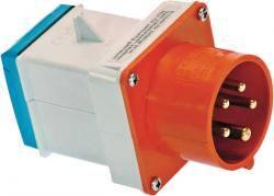 Adapterstecker CEE 5polig auf Schuko von CEE-Stecker 5polig (400V/16A) auf Schukodose (230V/16A)