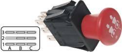 Druck-Zündschalter für viele Modelle und Systeme passend, (PTO-Switch) für Ariens Rasentraktor/ Aufsitzmäher 915008-0001001 EZR1540, 915009-000101 EZR1648, 915010-000101 EZR1540, EZR1742 auch für Bobcat, John Deere, Kubota, MTD, Scag, Snapper, Toro